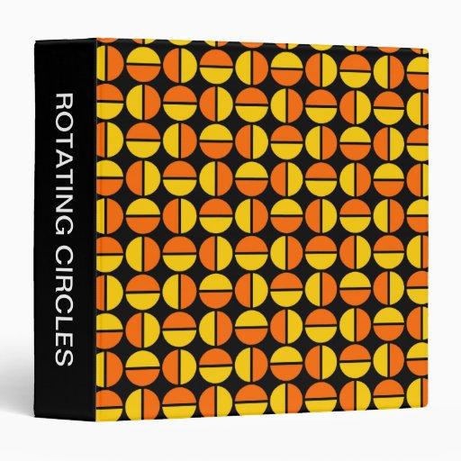 """Círculos giratorios (el 1.5in) naranja y ámbar en carpeta 1 1/2"""""""