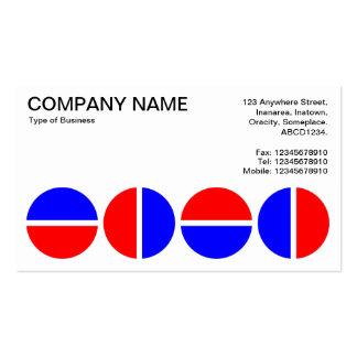 Círculos giratorios - rojo y azul tarjetas de visita