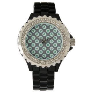 Círculos grises de la combinación de Shirley Reloj De Mano