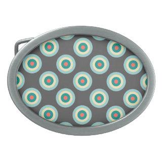 Círculos grises de la combinación hebillas cinturon ovales