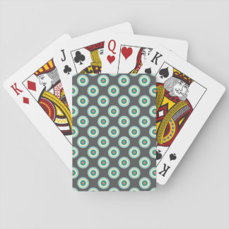 Círculos grises de la combinación cartas de póquer