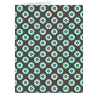 Círculos grises de la combinación tarjeta de felicitación grande