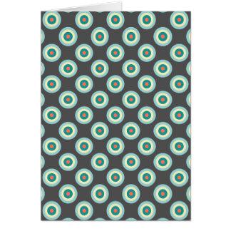 Círculos grises de la combinación tarjeta de felicitación