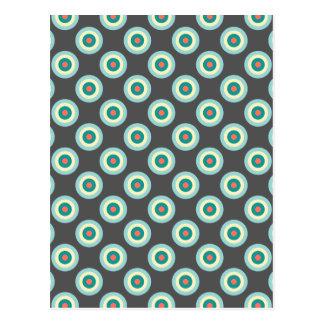 Círculos grises de la combinación postal