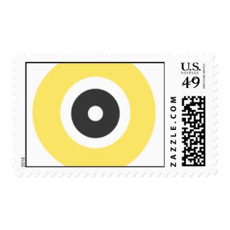Círculos grises y amarillos sellos