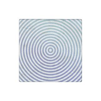 Círculos hipnóticos azules imán de piedra