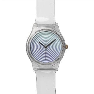 Círculos hipnóticos azules relojes
