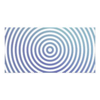 Círculos hipnóticos azules tarjetas personales