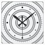 Círculos hipnóticos reloj de pared