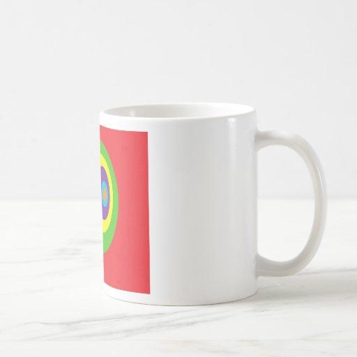 Círculos impresionantes taza de café