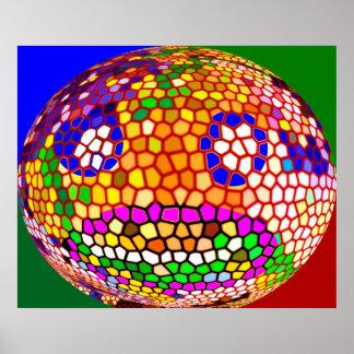 Círculos mágicos - creaciones felices asombrosas d póster