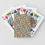 Círculos marrones del cervatillo baraja de cartas
