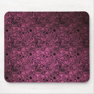 Círculos misteriosos rosados Mousepad