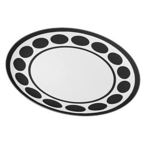 Círculos/modelo de lunar simples platos