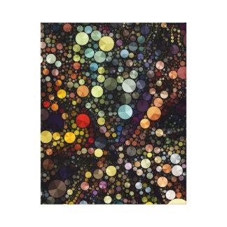 Círculos multicolores geométricos de los modelos lona envuelta para galerías