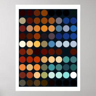 Círculos multicolores geométricos de los modelos póster
