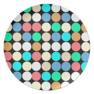 Círculos multicolores. Modelo geométrico Platos De Comidas