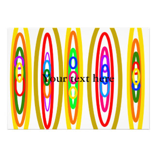 Círculos multicolores retros comunicados