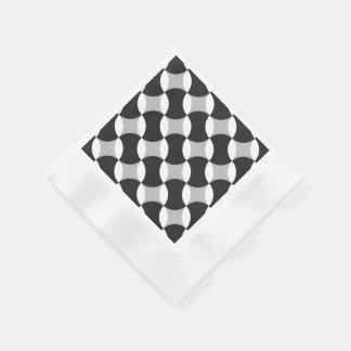 Círculos negros, blancos y grises servilletas desechables