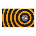 Círculos negros y amarillos del monograma moderno tarjetas de visita