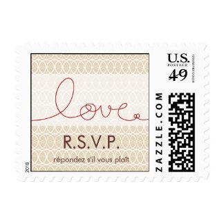 Círculos + Oscuridad RSVP del amor que casa sellos