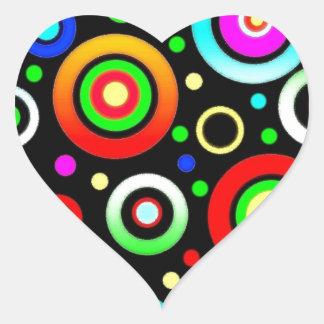 Círculos Pegatina En Forma De Corazón