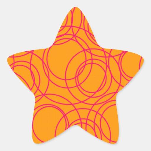 Círculos Pegatina En Forma De Estrella