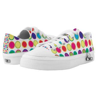 Círculos pintados coloridos zapatillas
