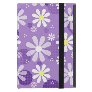 Círculos púrpuras de la guinga de las margaritas r iPad mini carcasa