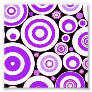 Círculos púrpuras fotografía