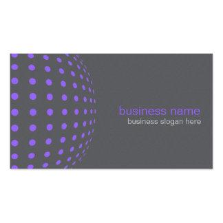 Círculos púrpuras simples modernos elegantes plantilla de tarjeta de negocio