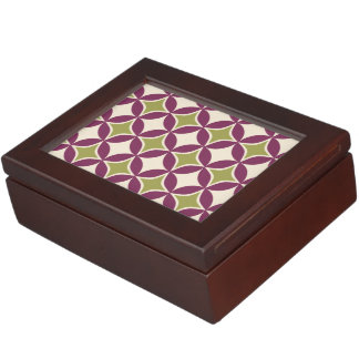 Círculos púrpuras y verdes caja de recuerdos