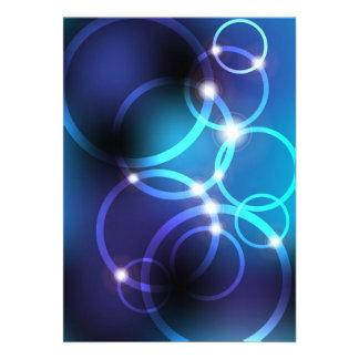 Círculos que brillan intensamente invitación