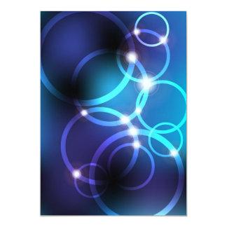"""Círculos que brillan intensamente invitación 5"""" x 7"""""""