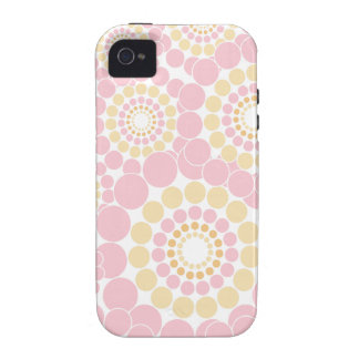 Círculos radiales dulces iPhone 4/4S carcasas
