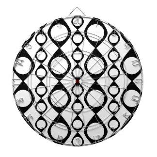 Círculos retros blancos y negros, anillos
