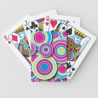 Círculos retros baraja de cartas
