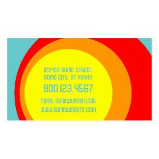 círculos retros de la magdalena tarjetas personales