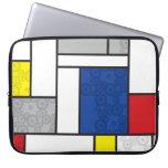 Círculos retros de Stijl del arte minimalista de Funda Portátil