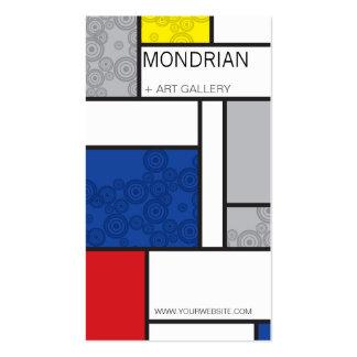 Círculos retros de Stijl del arte minimalista de M Tarjetas De Visita