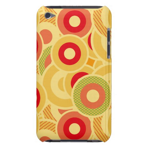 Círculos retros iPod Case-Mate fundas