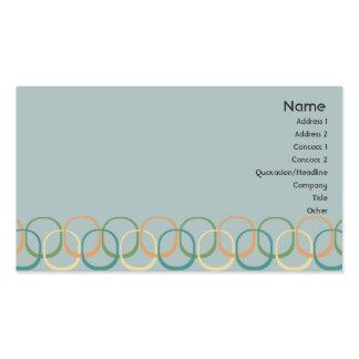 Círculos retros - negocio tarjeta de visita