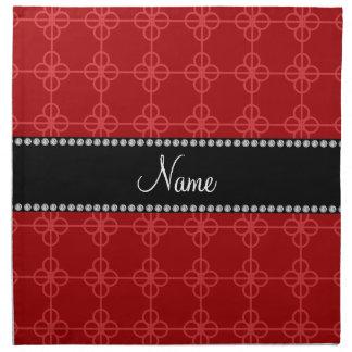 Círculos retros rojos conocidos personalizados servilletas