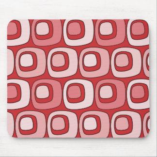 Círculos retros (rojos) tapetes de ratones