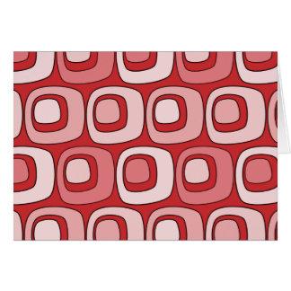 Círculos retros (rojos) tarjeta de felicitación