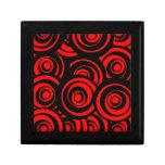Círculos rojos caja de recuerdo