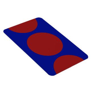 Círculos rojos en azul iman