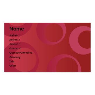 Círculos rojos - negocio tarjetas de visita