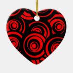 Círculos rojos ornamento para arbol de navidad