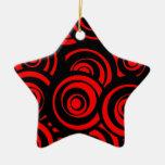 Círculos rojos ornamentos para reyes magos